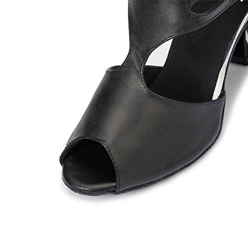 T White Dance Womens Ballroom CRC Morden Professional Shoes Strap Wedding Party Black Stylish Leather Tango qf6xwgEZ