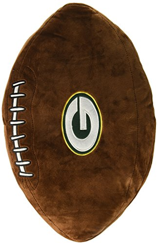 Football Plush Pillow (Officially Licensed NFL Green Bay Packers 3D Sports Pillow)