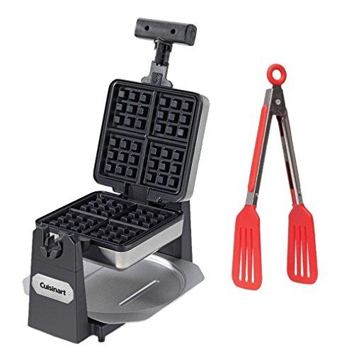 Cuisinart WAF-F15 4-slice Waffle Maker - Square + 8-inch Nyl