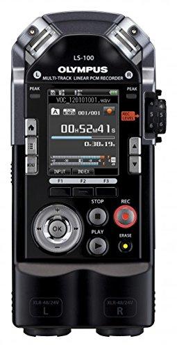 OLYMPUS マルチトラックリニアPCMレコーダー LS-100 ブラック 4GB SDカードスロット 最大耐音圧140dBspl XLRコネクタ搭載 マルチトラック録音対応 LS-100 B006WH7K7Q