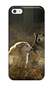 Hot 8857631K75395827 Case Cover Iphone 5/5s Protective Case Animal Wolf
