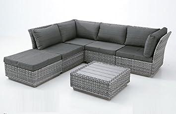 sofa de terraza esquinero rattan tripoli: Amazon.es: Jardín
