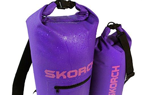 SKORCH 2 Pack - 20L Waterproof Backpack + 10L Dry Bag - Matching Set. Sailing, Kayaking, Beach, Paddle Board, Jetski