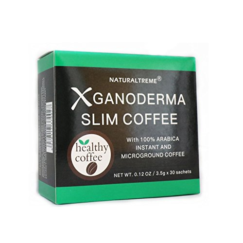 Dodjivi Ganoderma Slim Coffee Weight Loss & Detox 100% Arabica Black Premium Instant Coffee - (1 Box of 30 Sachets)