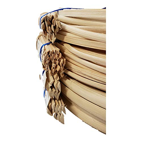 Any Width 3//16 1//4 3//8 1//2 1 Pound Coil of Flat Oval Reed for Basket /& Seat Weaving Natural Color 3//16