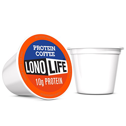LonoLife Protein Coffee with 10g Protein, Single Serve Cups, 10 Count