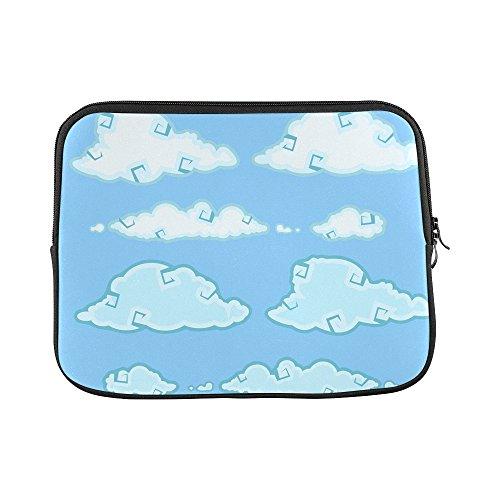 (Design Custom Clouds Sky Heaven Blue Summer Sleeve Soft Laptop Case Bag Pouch Skin For Macbook Air 11