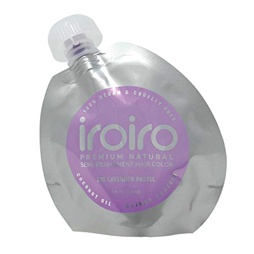 IROIRO Premium Natural Semi-Permanent Hair Color 210 Pastel Lavender (8oz)