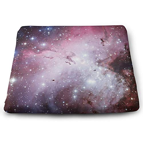 Outer Space Infinity Galaxy Universe Seat Cushion Pad Memory Foam Cushion for Drivers Office Chairs Wheelchairs, Square Ergonomic Lumbar Support Pillow for Relief Lumbar Muscles ()