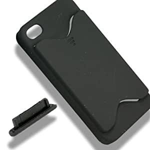 [Aftermarket Product] Apple iPhone 4 Black Case Cover With Id/ Credit / BUSiness Card Holder Storage