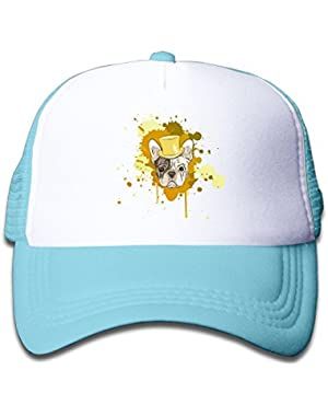 Bulldog Dog Cartoon Baby Boys Baseball Cap Cute Hat