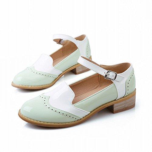 Charme Voet Mode Dames Lage Hak Mary Jane Flats Schoenen Groen