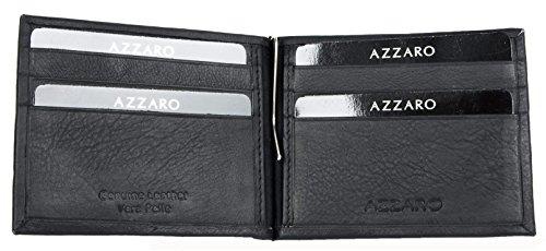 Wallet Black Bifold Genuine Azzaro Men's Leather Simple Simple Azzaro Bifold Men's Men's Genuine Simple Black Wallet Leather Black tYAOwY