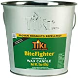 TIKI 1418014 Brand 17 oz. BiteFighter Galvanized Citronella Wax Candle Metal Bucket Silver Torch, 5.00