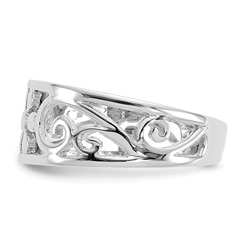Jewels By Lux 14k White Gold Floral Toe Ring by Jewels By Lux (Image #4)