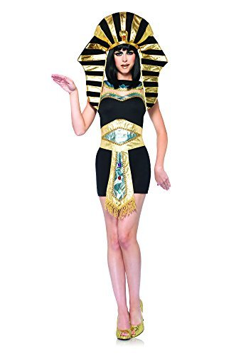Leg Avenue Queen Tut Costume (M/ L, Black/ Gold) by Leg Avenue