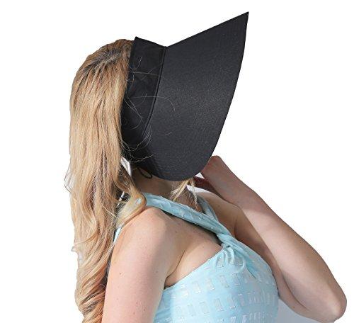 CACUSS Women's Summer Sun Hat Large Brim Visor Adjustable Velcro Packable UPF 50+ (Black) by CACUSS (Image #5)
