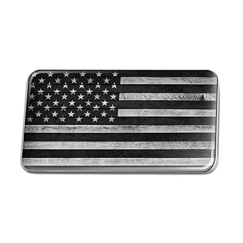 GRAPHICS & MORE Rustic Subdued American Flag Wood Grain Design Rectangle Lapel Pin Tie Tack
