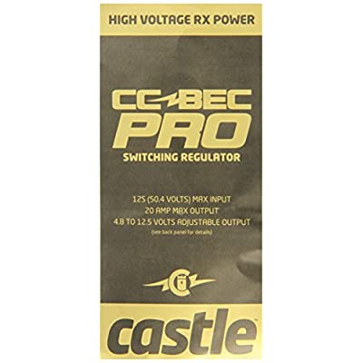 Castle Creations CC Bec Pro 20A 12S Switching Regulator: Toys & Games
