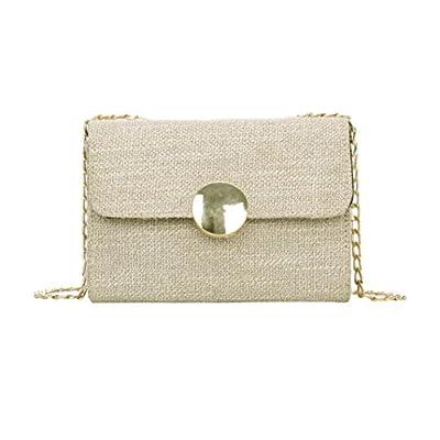 LtrottedJ Fashion Women Girl Weave Flap Bags Pretty Crossbody Shoulder Bags well-wreapped