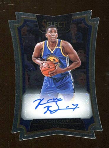 Kevon Looney 2016-17 Panini Select Die Cut Auto Prizm 4/99 Warriors 43102