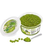 Popping Boba för bubbelté - Fruktpärlor, exploderande bubblor - 450 gram - grönt äpple - INGA konstgjorda färger - Mindre socker, riktig fruktjuice - 100 % vegan och glutenfri
