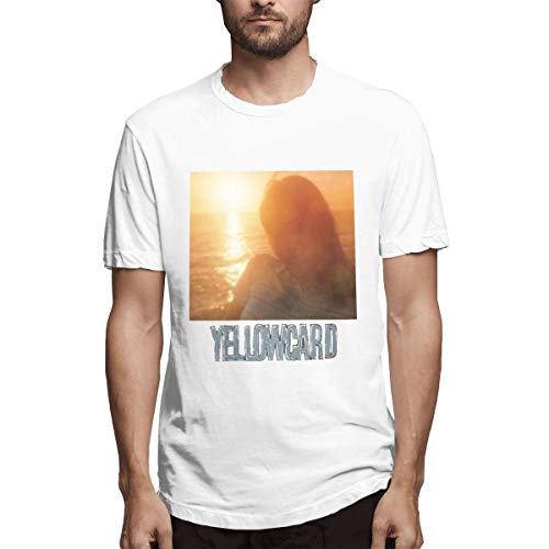 Yellowcard Music//Rock//Singer Cotton Shirt Round Neck Short Sleeve Shirt for Teen Boys and Girls Classic Fit Black