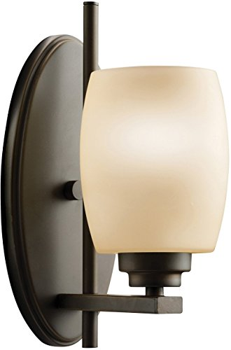 Kichler 5096OZ Bath Vanity Wall Lighting Wall Sconce, Bronze 1-Light (5
