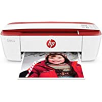 HP DeskJet 3755 All-in-One Printer in White and Red (Certified Refurbished)