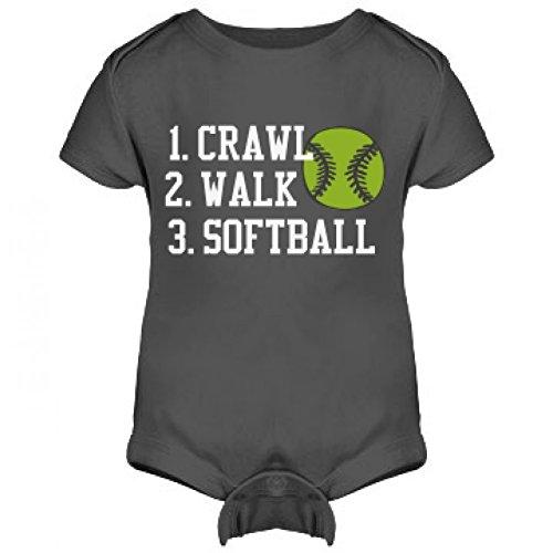 Crawl, Walk, Softball: Infant Rabbit Skins Lap Shoulder Creeper
