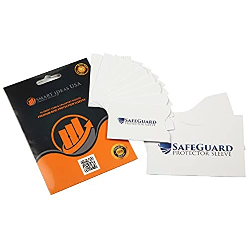 Smart Ideas Usa Rfid Credit Card Protector Sleeves Set Of 10 Cc