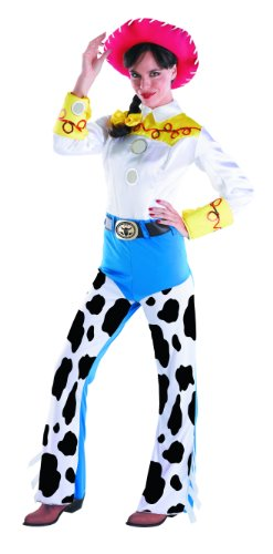 Disguise Women's Jessie Deluxe Adult,Multi,M (8-10) Costume (Halloween Jessie)