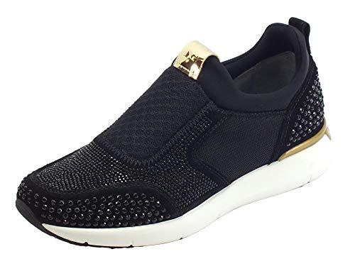 Con Sportive 6591 Sneaker A806591 Nerogiardini Strass Scarpe Nero 100 Donna qwTO70nB