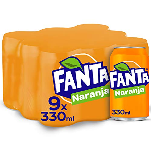 Fanta Naranja Lata – 330 ml (Pack de 9)