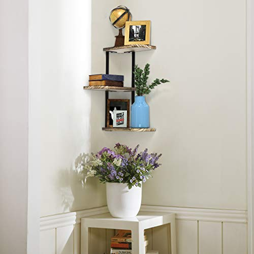 Corner floating shelves black