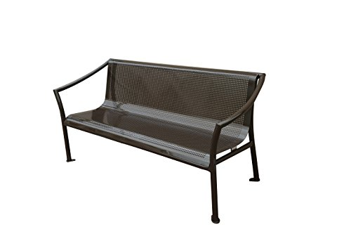 Aluminum Deck Furniture (SORARA Patio Park Garden Bench Outdoor Furniture Deck Aluminum Porch Path Chair Seat, 72 x 25 x 31-Inch, Bronze)