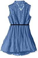 Beautees Sleeveless Shirt Dress with Col...