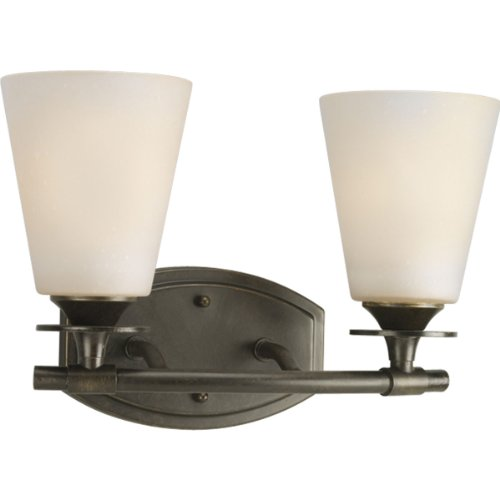 Forged Bronze Two Light Bath - Progress Lighting P3222-77 2-Light Bath Bracket, Forged Bronze