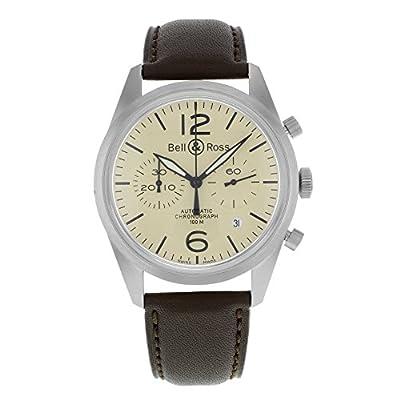 Bell & Ross Men's BR-126-ORIGINAL BEIGE Vintage Beige Chronograph Dial Watch