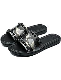 f7aa70f7eb5c82 Mens Casual Leather Rivet Sandals Flip Flops Shoes · OPP