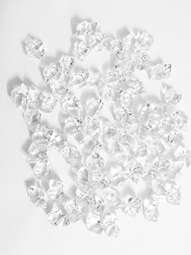 Kely Clear Acrylic Crushed Ice,Translucent Clear Acrylic Ice Rocks for Centerpiece Vase Fillers or Table (Acrylic Crushed Ice)
