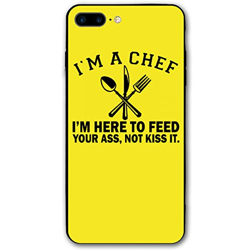 customgogo for iPhone 7 Plus Case, for iPhone 8 Plus Case, I'm A Chef Here to Feed Your Ass Not Kiss It Ultra Thin Mobile Phone Cover Case Shell Shockproof Full-Body Protective Case Cover ()