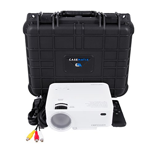 CASEMATIX Waterproof Carrying Case Designed For DBPower T20 1500 Lumens Home Theatre Projector , Remote , Power Supply , Cables and Accessories by CASEMATIX (Image #2)