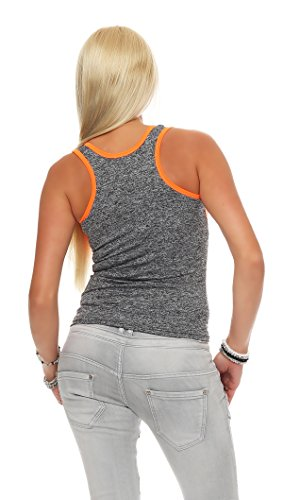 Fashion Design - Camiseta sin mangas - para mujer IL13 orange
