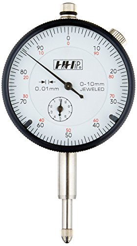 Pro Series by HHIP 4400-1101 Metric Dial Indicator.01 mm Graduation, 0-10 mm