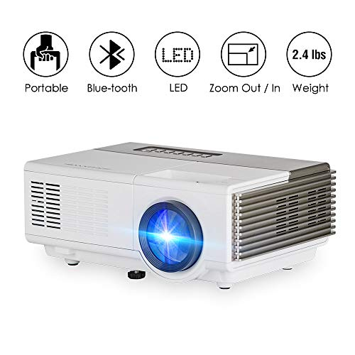 Mini Smart Bluetooth Video Projector WiFi Wireless LCD LED 1500 Lumen Home Theater Projectors HDMI USB VGA Airplay Miracast Support HD 1080P 720P for Games Movies Holiday Gatherings Karaoke Artworks
