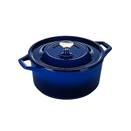 Swiss Diamond Enameled Cast Iron Round Casserole, 11 inch, Saphir Bleu