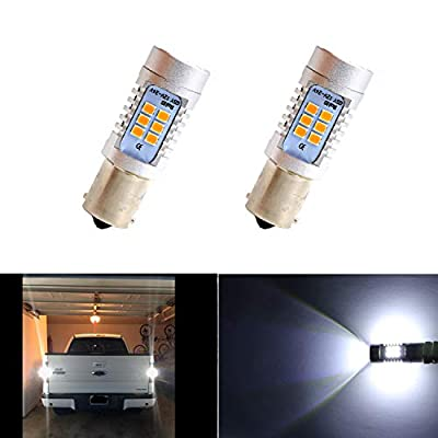 1260 Lumens 1156 Reverse Light Extremely Bright 21 2835 SMD LEDs 1141 1073 7506 White LED Backup Lights Reverse Led Bulb (Pack of 2): Automotive