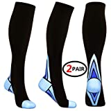 (2 Pairs)Compression Socks / Stockings for...