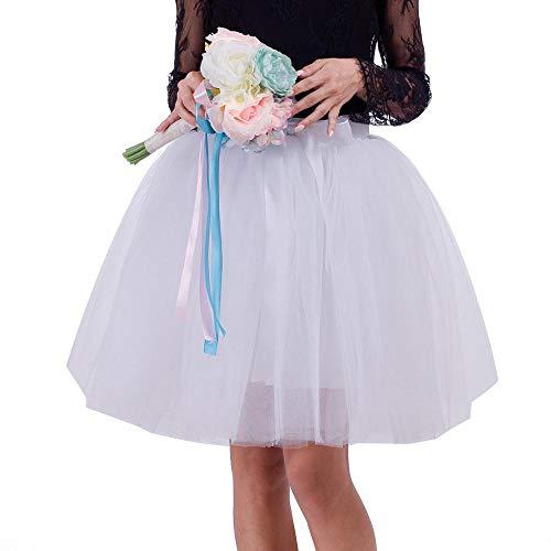 Falda Gasa Vjgoal Plisado Tutu Color Bailando Casual Mini Blanco Verano Suave Moda Sólido Mujer 8qwFx87f